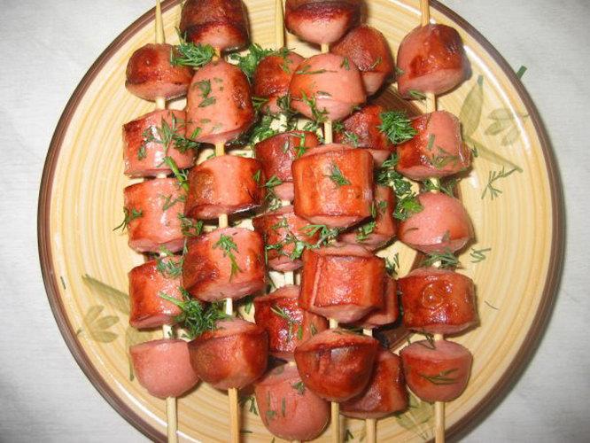 Сосиски на шпажках в кляре рецепт с пошагово